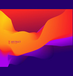 abstract background with orange and blue 3d wavy vector image vector image