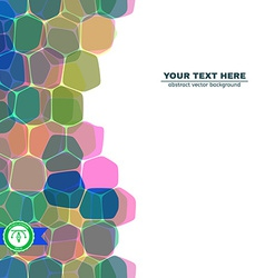 Abstract Roundish Honeycomb Background vector image