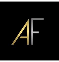 Af letters logo vector
