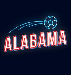 alabama vintage 3d lettering retro bold font vector image