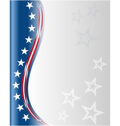 american flag symbols background frame vector image