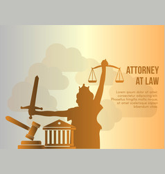 attorney at law conceptual design template vector image