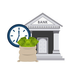 bank building economy icons vector image