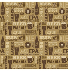Beer Pattern 01 vector image