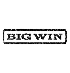 Big win watermark stamp vector