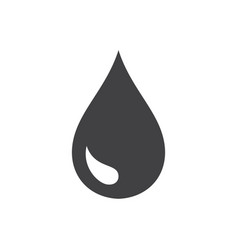 Black drop icon vector