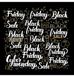 Black Friday Calligraphy Design vector image