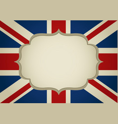 Blank frame on united kingdom insignia vector