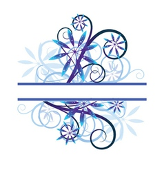 Blue floral vector