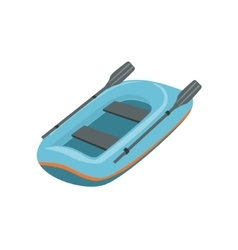 Blue Inflatable Dinghy Type Of Boat Icon vector image