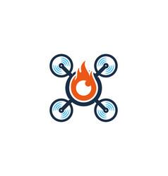 Burn drone logo icon design vector