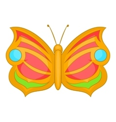 Butterfly with circle on wings icon cartoon style vector