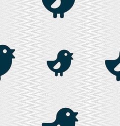 Chicken Bird icon sign Seamless pattern with vector