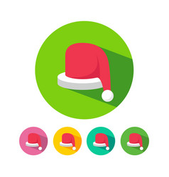 christmas celebration hat icon vector image