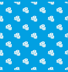 Coil for d printer pattern seamless blue vector