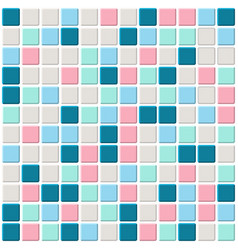 Color mosaic with white filling vector