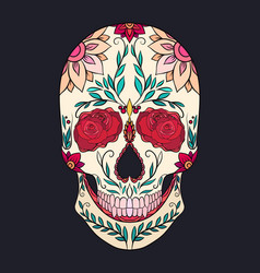 Color of a sugar skull the holiday vector