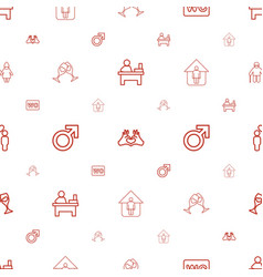 Couple icons pattern seamless white background vector