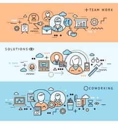 Coworking Banner Set vector