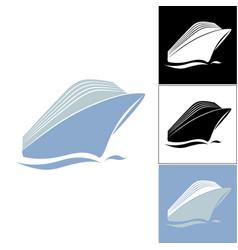 Cruise liner logo vector