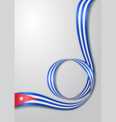 Cuban flag wavy background vector
