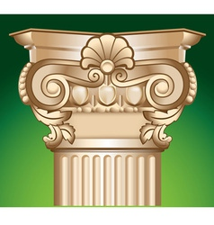 Decorated sandy column top capital vector