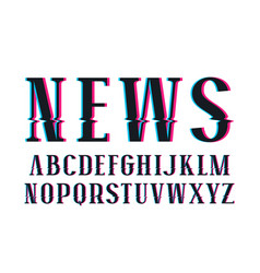 Decorative serif font vector
