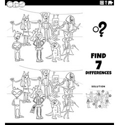 differences task with halloween characters vector image