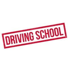 Driving School rubber stamp vector