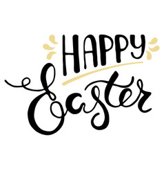 easter greeting card - happy easter vector image