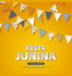 Festa junina holiday design paper cut style vector