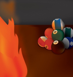 fire billiard vector image