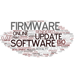 First word cloud concept vector
