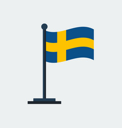 flag of swedenflag stand vector image