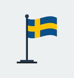 Flag of swedenflag stand vector