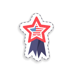 flag placed in star shape vector image