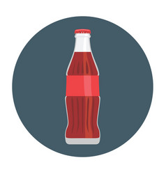Flat-icon-coke-bottle-glass vector