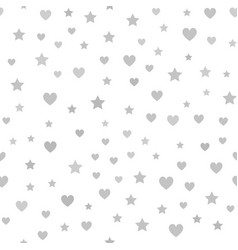 Gray heart star pattern seamless chaotic vector