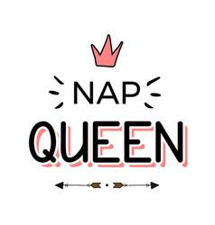 Hand drawn lettering queen vector