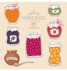 Home made jams vector
