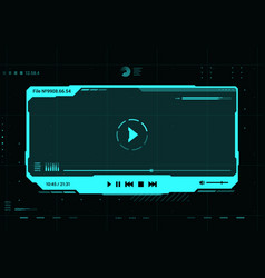 Hud video player futuristic screen frame interface vector
