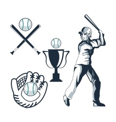 Icon set Baseball sport design graphic vector image