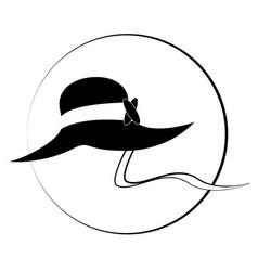 Lady hat 01 vector