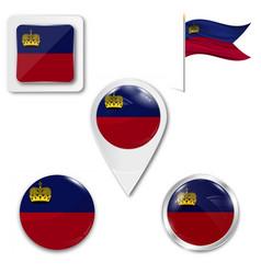 Liechtenstein flag flag symbol design state vector
