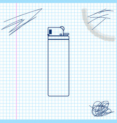 lighter line sketch icon isolated on white vector image