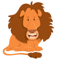 Lion cartoon animal character vector