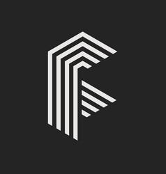logo letter f vector image