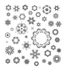 mandala round ornament set vector image