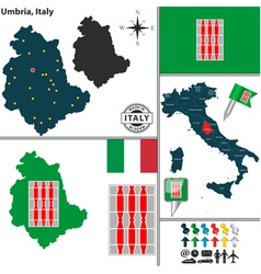 Map of Umbria vector