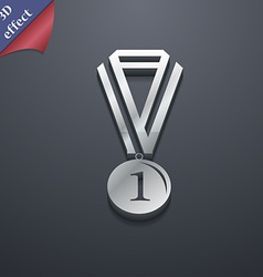 medal for first place icon symbol 3D style Trendy vector image
